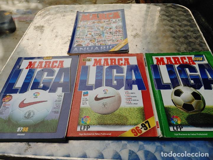 4 GUIAS MARCA LIGA 95-96, 96 97, 97 98, 98 99 Y ANUARIO AGENDA DEL DEPORTE 1997 EDICION ESPECIAL (Coleccionismo Deportivo - Revistas y Periódicos - Marca)