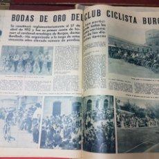 Coleccionismo deportivo: BODAS DE ORO DEL CLUB CICLISTA BURGALES 1962. Lote 266567508