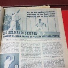 Coleccionismo deportivo: LOS HERMANOS CAREAGA GANARON EL GRAN PREMIO DE VIZCAYA DE CESTA PUNTA 1959. Lote 266571783