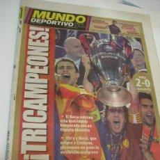 Coleccionismo deportivo: PERIODICO MUNDO DEPORTIVO 28 DE MAYO DE 2009 (28 - 5 -2009) BARCELONA CAMPEON CHAMPION. Lote 266607373