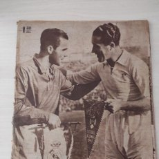 Coleccionismo deportivo: PERIODICO MARCA 263 1947 INAUGURACIÓN ESTADIO SANTIAGO BERNABEU REAL MADRID OS BELENENSES CHAMARTIN. Lote 266642848