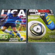 Collezionismo sportivo: LOTE DE 2 - GUÍA MARCA DE LA LIGA - NÚMS. 17 Y 19 - LIGA 2012 Y 2013/14 - FUTBOL. Lote 266871224