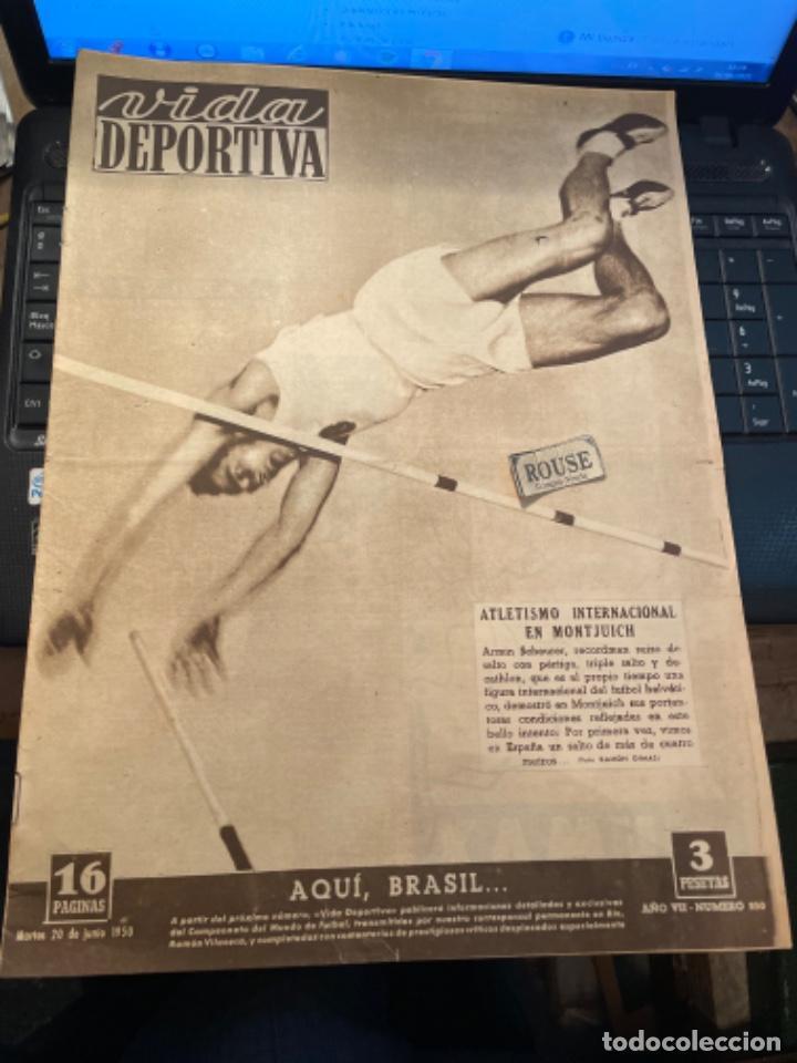 ANTIGUA REVISTA - VIDA DEPORTIVA -20-7-1950-AÑO VII - N 250 -KUBALA PREFIERE FIRMAR POR EL BARCEL (Coleccionismo Deportivo - Revistas y Periódicos - Vida Deportiva)