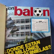 Coleccionismo deportivo: REVISTA DON BALON - COLECCION 190 PRIMEROS NUMEROS Nº 1 AL 190 - 19 TOMOS ENCUADERNADOS 1975-1979. Lote 267205159