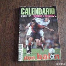 Coleccionismo deportivo: CALENDARIO LIGA FUTBOL 2001-02, NÚMERO 37, DON BALÓN.. Lote 267832889