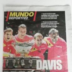 Coleccionismo deportivo: MUNDO DEPORTIVO: ESPAÑA GANA LA SEXTA COPA DAVIS. Lote 267889674
