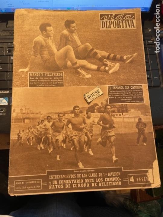ANTIGUA REVISTA -VIDA DEPORTIVA - 23-8-54 AÑO XI N.466 - ENTRENAMIENTOS CLUBS DE 1ª DIVISION FUTBOL (Coleccionismo Deportivo - Revistas y Periódicos - Vida Deportiva)