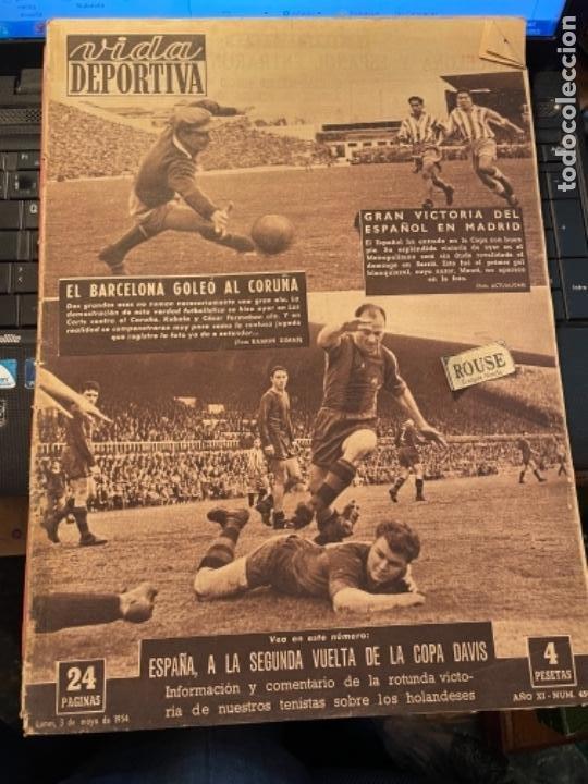 ANTIGUA REVISTA -VIDA DEPORTIVA - 3-3-54 AÑO XI N.450 - COPA GENERALISIMO AT. MADRID 1 ESPAÑOL 3 BAR (Coleccionismo Deportivo - Revistas y Periódicos - Vida Deportiva)