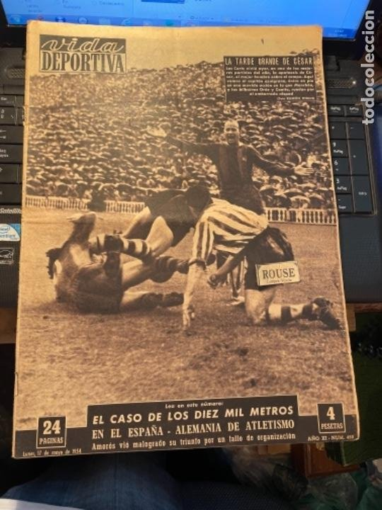 ANTIGUA REVISTA -VIDA DEPORTIVA - 17-5-54 AÑO XI N.452 COPA GENERALISIMO SEVILLA 4 ESPAÑOL 0 BARCELO (Coleccionismo Deportivo - Revistas y Periódicos - Vida Deportiva)