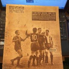 Coleccionismo deportivo: ANTIGUA REVISTA - VIDA DEPORTIVA 29-12-1954 AÑO XI Nº 480 AUTOMOVILISMO EL PEGASO ARDIO EN LA PANAME. Lote 268123029