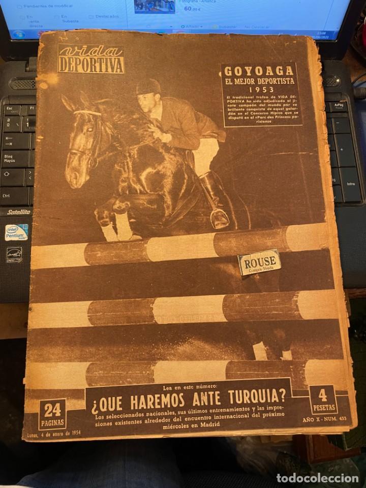 ANTIGUA REVISTA - VIDA DEPORTIVA 4-1-1954 AÑO XI Nº 433 SELECCION ESPAÑOLA ESPAÑA TURQUIA (Coleccionismo Deportivo - Revistas y Periódicos - Vida Deportiva)