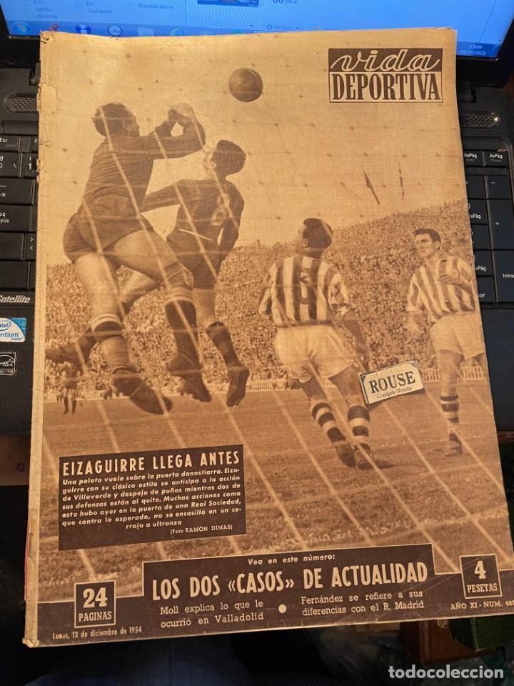 ANTIGUA REVISTA - VIDA DEPORTIVA 13-11-1954 AÑO XI Nº 482 - LAS PALMAS 2 ESPAÑOL 0 BARCELONA 4 R. S (Coleccionismo Deportivo - Revistas y Periódicos - Vida Deportiva)
