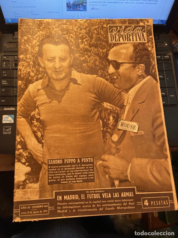 ANTIGUA REVISTA - VIDA DEPORTIVA 16-8-1954 AÑO XI Nº 465 MOTOCICLISMO GRAN PREMIO DEL ULSTER Y DE BE (Coleccionismo Deportivo - Revistas y Periódicos - Vida Deportiva)
