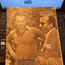 Coleccionismo deportivo: ANTIGUA REVISTA - VIDA DEPORTIVA 16-8-1954 AÑO XI Nº 465 MOTOCICLISMO GRAN PREMIO DEL ULSTER Y DE BE. Lote 268136569