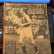 Coleccionismo deportivo: ANTIGUA REVISTA - VIDA DEPORTIVA 28-11-1948 AÑO V Nº 173 - BARCELONA 1 A. BOLDKLUBEN 1 - BARCELONA 2. Lote 268137404