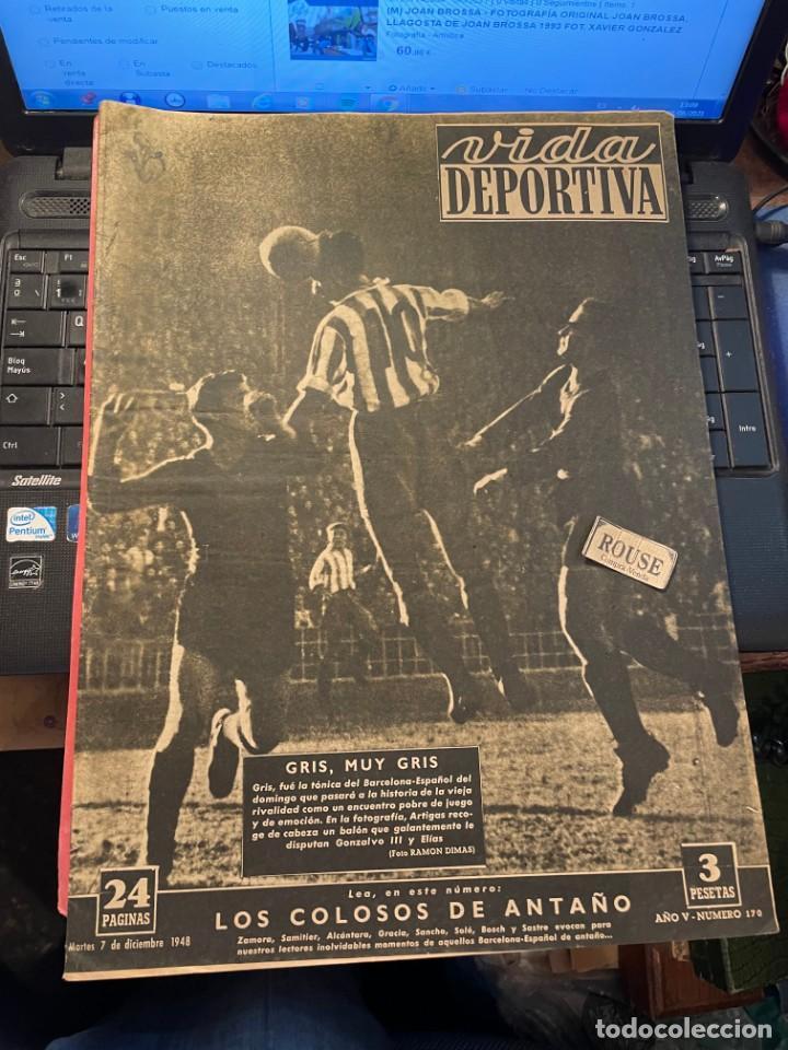 VIDA DEPORTIVA - 7-12-1948 AÑO V Nº 170 -MONOGRAFICO SOBRE TODOS LOS PARTIDOS F.C.B. ESPAÑOL (Coleccionismo Deportivo - Revistas y Periódicos - Vida Deportiva)