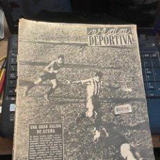 Coleccionismo deportivo: VIDA DEPORTIVA - 9-11-1948 AÑO V Nº 166 - ESPAÑOL 4 CORUÑA 1 AT.MADRID 2 BARCELONA 0 BILBAO 7 SABADE. Lote 268278844