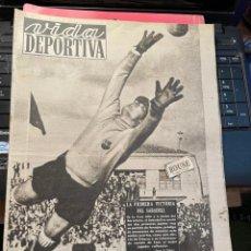 Coleccionismo deportivo: VIDA DEPORTIVA - 19-10-1948 AÑO V Nº 163 - ESPAÑOL 5 CELTA 0 SABADELL 1 BARCELONA 0 TARRAGONA 2 AT.. Lote 268280609