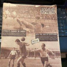 Coleccionismo deportivo: VIDA DEPORTIVA - 22-3-1954 AÑO XI Nº 444 - ESPAÑOL 2 CORUÑA 0 SANTANDE 4 BARCELONA 3 SELECCION TURQU. Lote 268287734