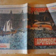 Collezionismo sportivo: DIARIO SPORT 25 JULIO 1992 INAGURACIÓN JUEGOS OLIMPICOS BARCELONA. Lote 268308384