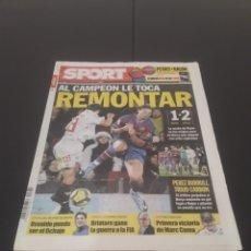 Coleccionismo deportivo: SPORT N° 10.880. 6 DE ENERO 2010.. Lote 268728644