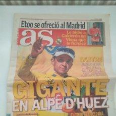 Coleccionismo deportivo: AS - CARLOS SASTRE TOUR 2008- GANADOR EN ALPE D'HUEZ. MUY BUEN ESTADO.. Lote 268985964