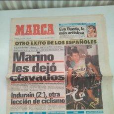 Coleccionismo deportivo: MARCA TOUR DE FRANCIA 1990. MARINO LEJARRETA. SOLO PORTADA Y PAGINAS DE CICLISMO. MUY BUEN ESTADO.. Lote 268990354