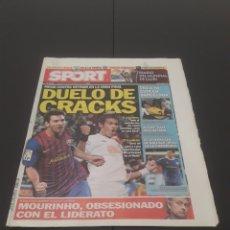 Coleccionismo deportivo: SPORT N° 11.586. 17 DE DICIEMBRE 2011.. Lote 269050278