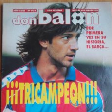Coleccionismo deportivo: REVISTA DON BALON 921. BARÇA TRICAMPEON. 1993. Lote 269360493