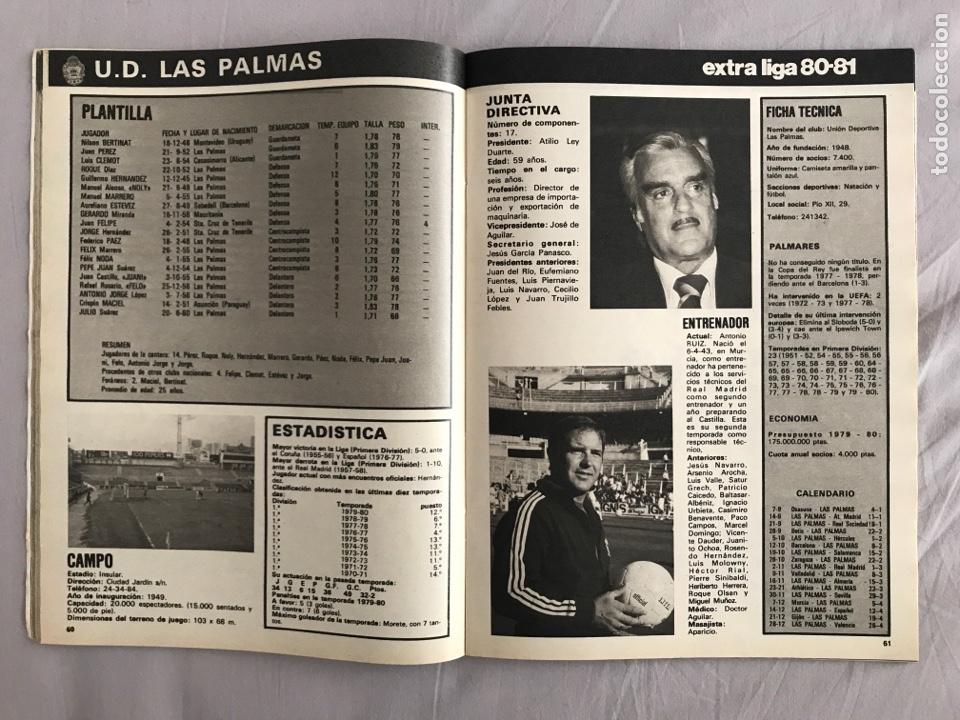 Coleccionismo deportivo: Fútbol don balón Extra liga 80-81 - Temporada 1980-1981 - marca as panini este guía mundial euro - Foto 5 - 269401238