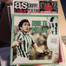 Coleccionismo deportivo: AS COLOR 10 DE FEBRERO DE 1981 (N. 508) CON POSTER DE LÓPEZ UFARTE Y RUBIO. Lote 269576863