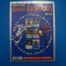 Coleccionismo deportivo: REVISTA DE FUTBOL DON BALON EXTRA LIGA Nº 37 AÑO 1997-1998/97-98. Lote 270362463
