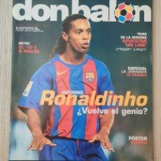 Coleccionismo deportivo: DON BALÓN Nº 1528 - AÑO 2005. POSTER FC BARCELONA. Lote 271049868
