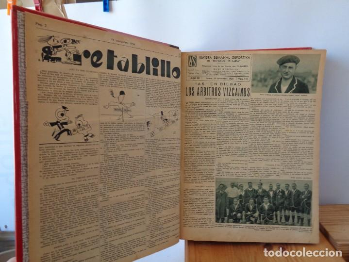 Coleccionismo deportivo: ¡¡ AS, REVISTAS DEPORTES, nº 126 a 150. AÑOS 1934 - 1935. !! - Foto 9 - 271574403