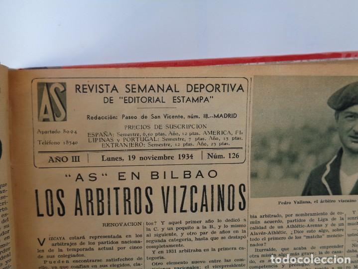 Coleccionismo deportivo: ¡¡ AS, REVISTAS DEPORTES, nº 126 a 150. AÑOS 1934 - 1935. !! - Foto 10 - 271574403
