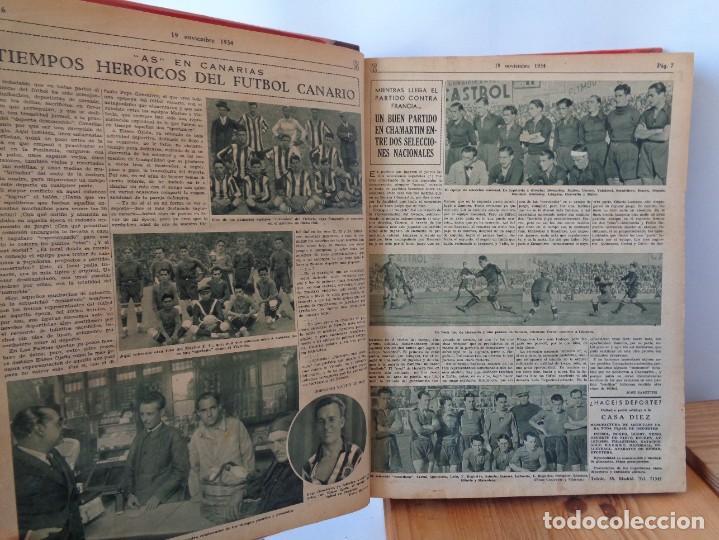 Coleccionismo deportivo: ¡¡ AS, REVISTAS DEPORTES, nº 126 a 150. AÑOS 1934 - 1935. !! - Foto 12 - 271574403