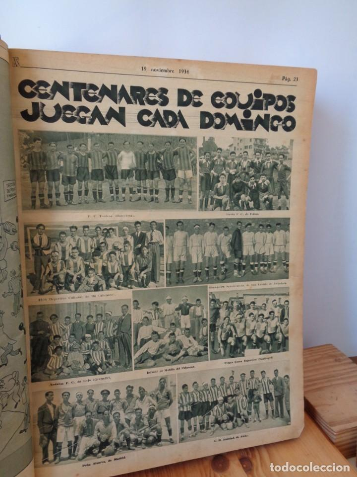 Coleccionismo deportivo: ¡¡ AS, REVISTAS DEPORTES, nº 126 a 150. AÑOS 1934 - 1935. !! - Foto 17 - 271574403