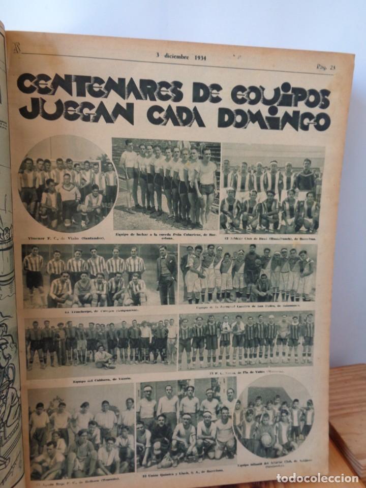 Coleccionismo deportivo: ¡¡ AS, REVISTAS DEPORTES, nº 126 a 150. AÑOS 1934 - 1935. !! - Foto 21 - 271574403