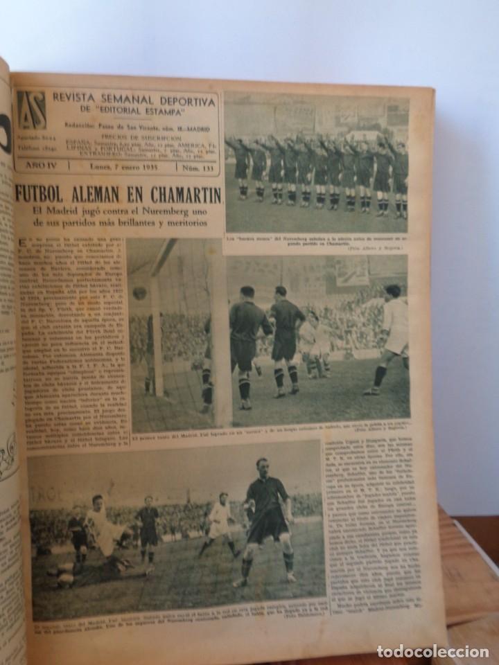 Coleccionismo deportivo: ¡¡ AS, REVISTAS DEPORTES, nº 126 a 150. AÑOS 1934 - 1935. !! - Foto 30 - 271574403
