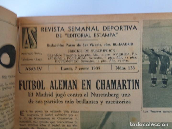 Coleccionismo deportivo: ¡¡ AS, REVISTAS DEPORTES, nº 126 a 150. AÑOS 1934 - 1935. !! - Foto 31 - 271574403