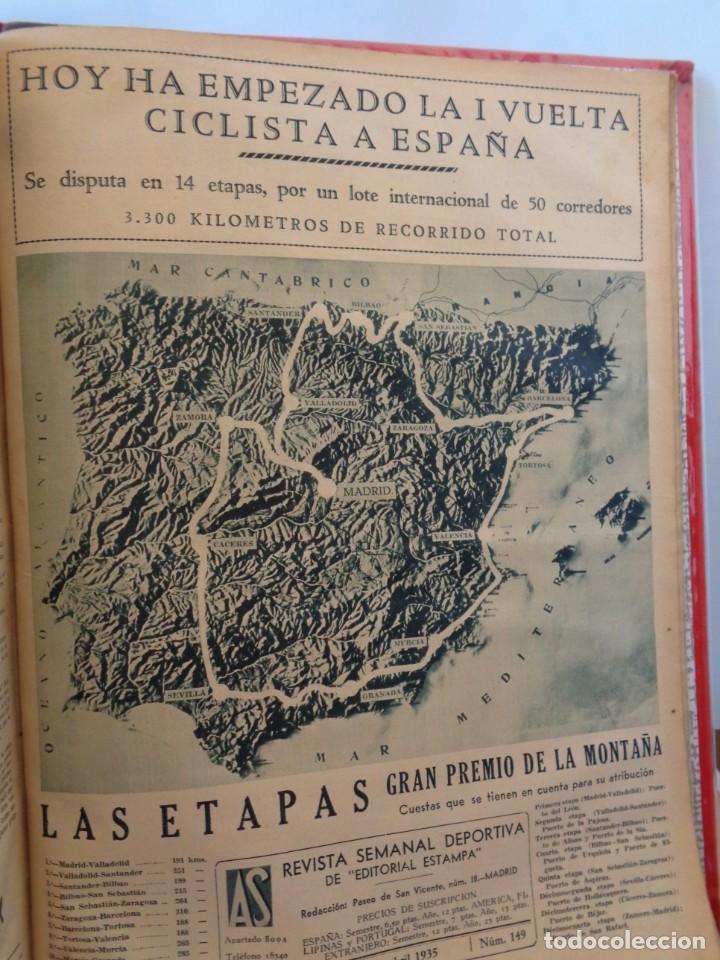 Coleccionismo deportivo: ¡¡ AS, REVISTAS DEPORTES, nº 126 a 150. AÑOS 1934 - 1935. !! - Foto 40 - 271574403