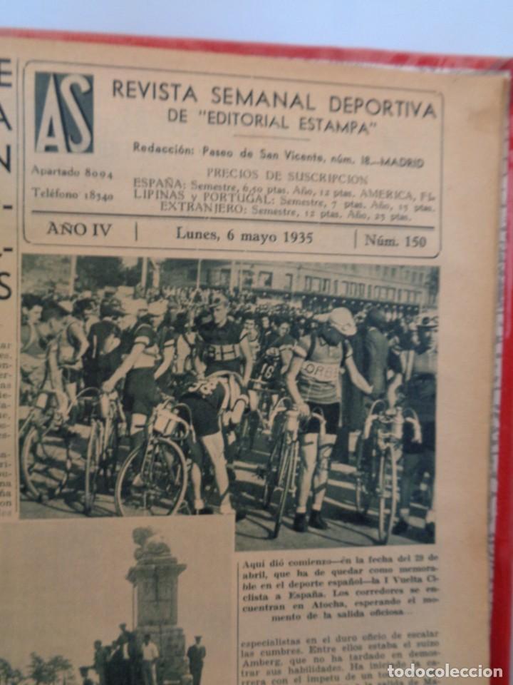 Coleccionismo deportivo: ¡¡ AS, REVISTAS DEPORTES, nº 126 a 150. AÑOS 1934 - 1935. !! - Foto 41 - 271574403