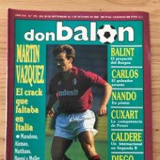 Coleccionismo deportivo: FÚTBOL DON BALÓN 779 - POSTER NANDO - TORINO - BURGOS - CARLOS - OVIEDO - COPAS EUROPEAS - TENERIFE. Lote 271579798