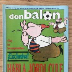 Coleccionismo deportivo: FÚTBOL DON BALÓN 778 - POSTER ZAMORANO - ATHLETIC - POLSTER - MÁGICO CÁDIZ - ESPAÑA VS BRASIL. Lote 271625273