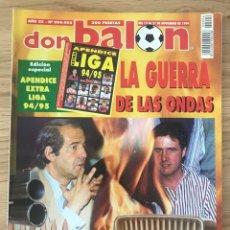 Coleccionismo deportivo: FÚTBOL DON BALÓN 994-995 - APÉNDICE EXTRA LIGA 94/95 - ZARAGOZA - POSTER COMPOSTELA - RAUL - LAUDRUP. Lote 271631548