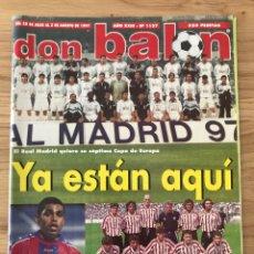 Coleccionismo deportivo: FÚTBOL DON BALÓN 1137 - POSTER SERGI - MADRID - SPORTING - ATHLETIC - OSCAR - ANDERSON - BARCELONA. Lote 271818358