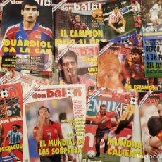 Coleccionismo deportivo: LOTE 22 REVISTAS DON BALÓN. MUNDIAL USA 94. COMPLETAS. CON SUS POSTERS. AÑO: 1994.. Lote 271825983