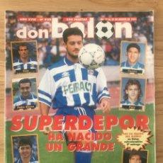 Coleccionismo deportivo: FÚTBOL DON BALÓN 929 - POSTER VITOR - FICHAS CRACKS - DEPORTIVO - SPORTING - REDONDO MALDINI LLEIDA. Lote 272200273