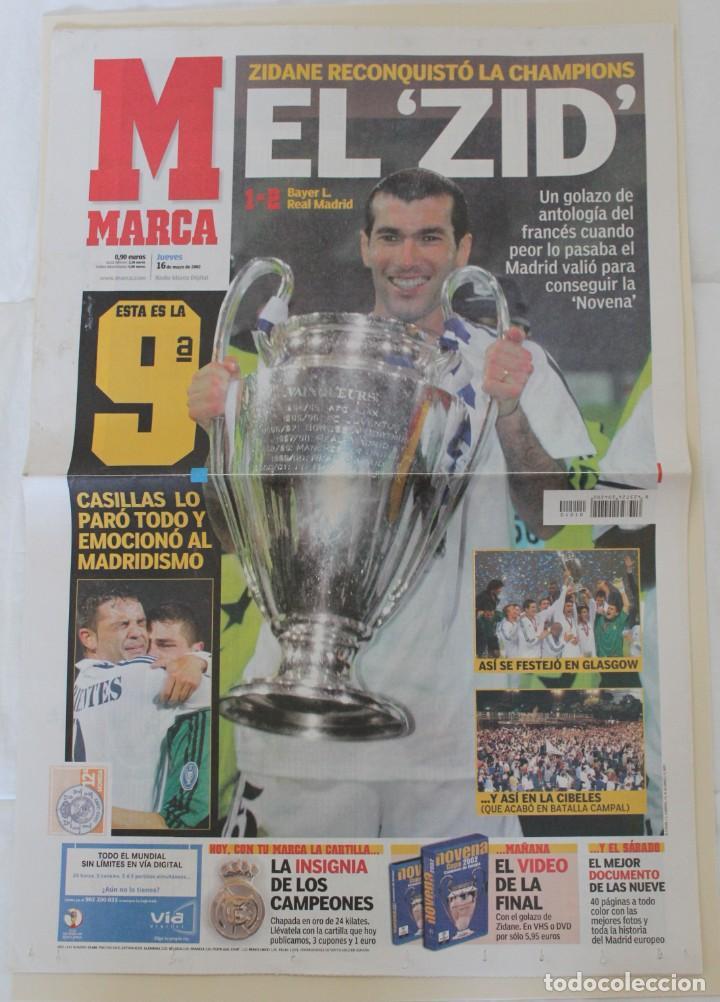 DIARIO MARCA. 26/05/2002. REAL MADRID NOVENA CHAMPIONS LEAGUE (2002) (Coleccionismo Deportivo - Revistas y Periódicos - Marca)