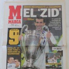 Collezionismo sportivo: DIARIO MARCA. 26/05/2002. REAL MADRID NOVENA CHAMPIONS LEAGUE (2002). Lote 219493636
